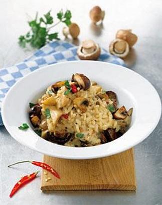 risotto mit chili und champignons bilder risotto mit chili und champignons foto. Black Bedroom Furniture Sets. Home Design Ideas