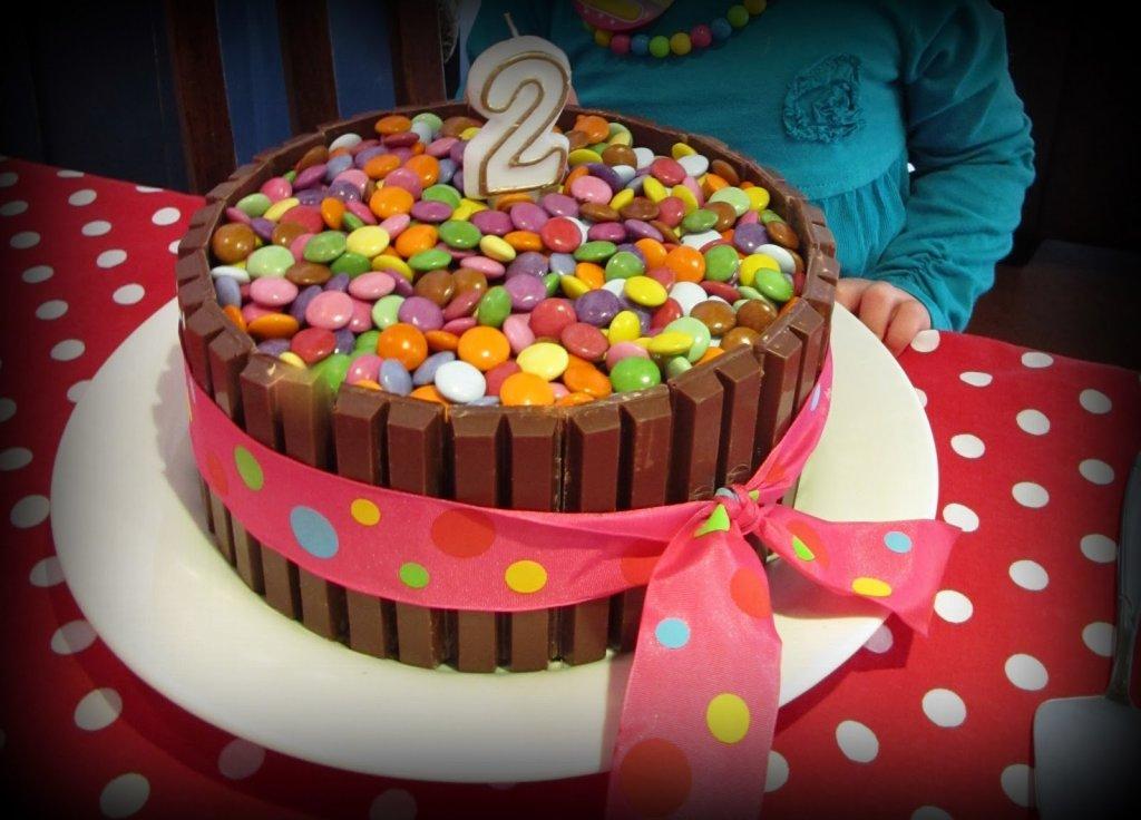 Rainbow Cake With Pink