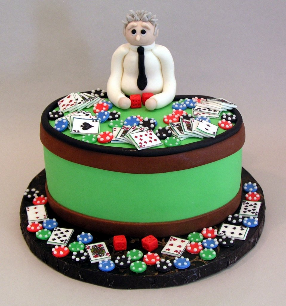 Poker Chip Birthday Cake