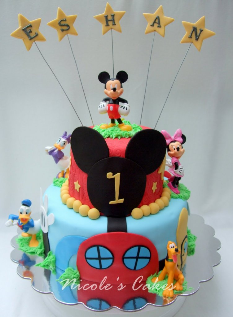 Mickey Mouse Clubhouse Birthday Cake Designs