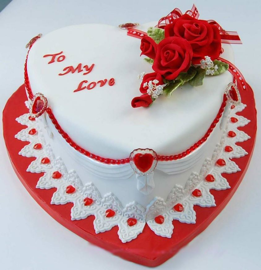 Heart Shape Cake With Icing